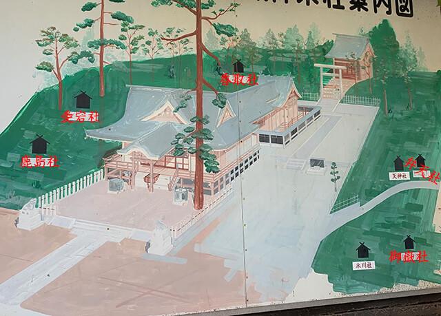 八幡神社の地図